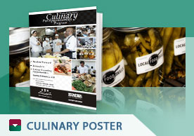London Training Culinary Poster
